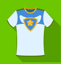 t-shirt fan with printfans single icon in flat vector image