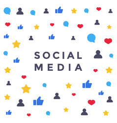 social media network like symbol flat vector image