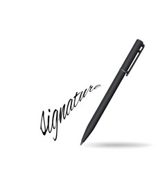 Ball pen ans signature vector