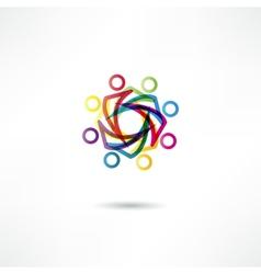 team icon vector image