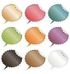 speech bubble stickers vector image