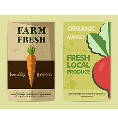 Set of stylish farm fresh flyer template or vector