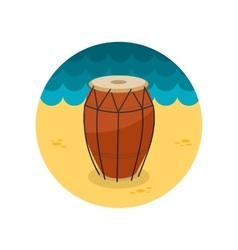 Drum flat icon vector