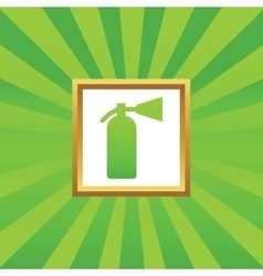 Fire extinguisher picture icon vector image