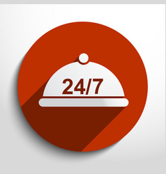 24 hour delivery food service vector