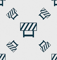 Road barrier icon sign seamless pattern with vector