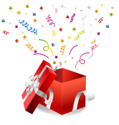 Open gift box vector