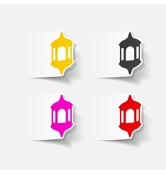 Realistic design element lantern vector