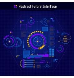 Abstract future interface concept vector