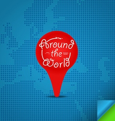 Around the world concept Design template vector image vector image