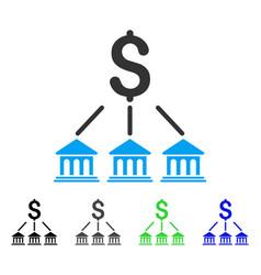 bank organization flat icon vector image