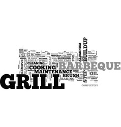 Barbeque maintenance tipswps text word cloud vector