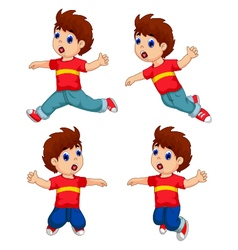 expression of boy cartoon collection for you desig vector image