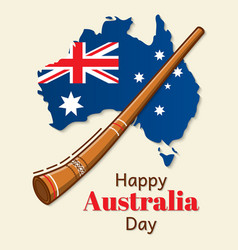 Happy australia day design national flag vector