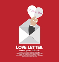 Heart In Hand Love Letter Concept vector image