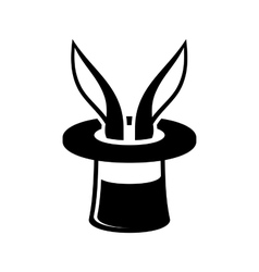 Magic Trick Rabbit in Wizard Hat Icon vector image vector image