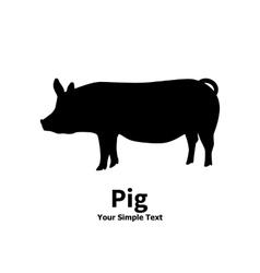Pet pig vector