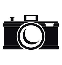 Photocamera icon simple style vector