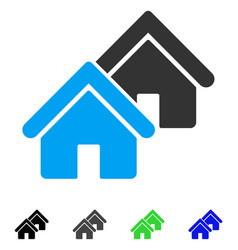 Realty flat icon vector
