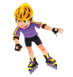 Rollerblade boy vector image