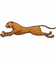 Running cheetah vector