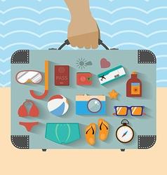 Summer infographics vector