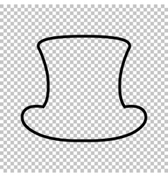Top hat sign line icon vector