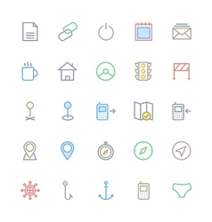 User interface colored line icons 26 vector