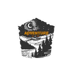 vintage hand drawn logotype typographic vector image vector image