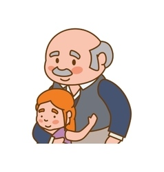 Grandfather old person man male icon vector