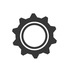 Gear machine part technology metal icon vector