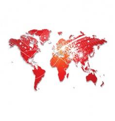 Christmas world map vector image