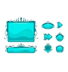 Beautiful blue game user interface vector