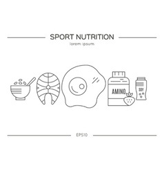 Sport nutrition products vector