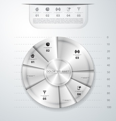 Abstract metal infographics vector image