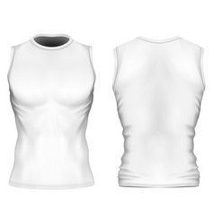 Sleeveless t-shirt with round vector