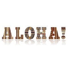Sign of Aloha vector image