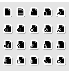 Documents Icons Set as Labels vector image