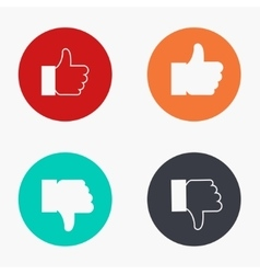 Modern thumb up colorful icons set vector