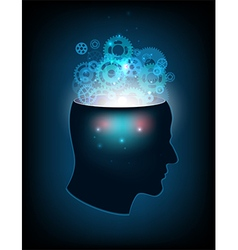 Head of the human mind consciousness imagination vector