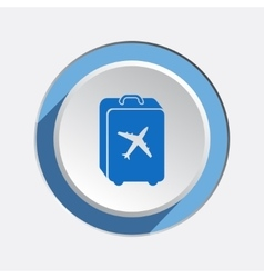 Airport baggage icon hand luggage for traveling vector