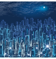Cityscape at night vector
