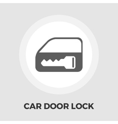 Window lock flat icon vector