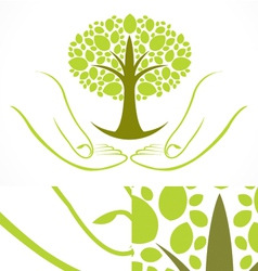 Green wellness tree vector