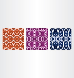 Abstract pattern background set vector