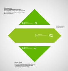 Rhombus infographic template horizontally divided vector