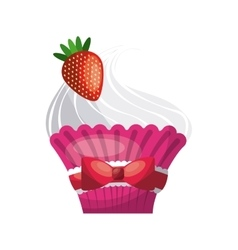 Cupcake icon bakery design graphic vector