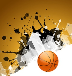 abstract background of basketball vector image