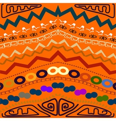 Abstract seamless pattern in the tribal style vector image vector image