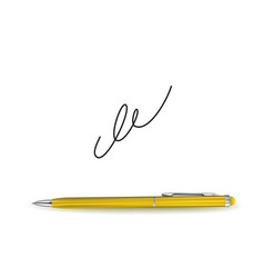 Ball pen ans signature vector